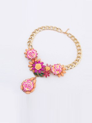 Occident Fashionable Retro Temperament Flowers Hot Sale Necklace