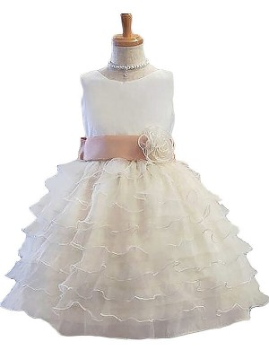 A-Line/Princess Jewel Tulle Sleeveless Short/Mini Flower Girl Dresses