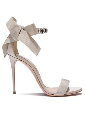 Women's Satin Peep Toe Stiletto Heel Sandals