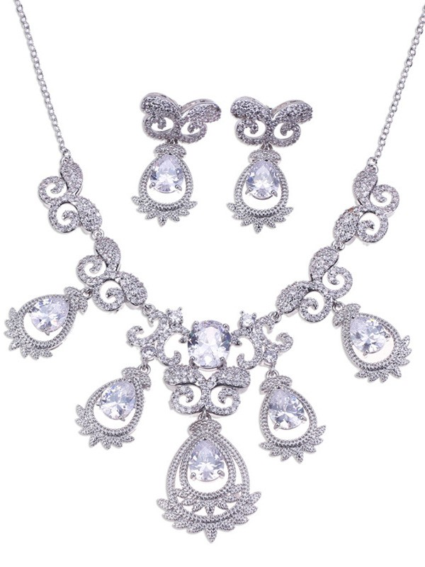 Gorgeous Alloy Wedding Bridal Hot Sale Jewelry Set