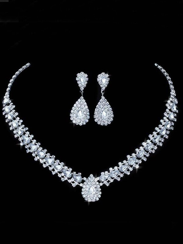 Korean Rhinestone Wedding Bridal Hot Sale Jewelry Set