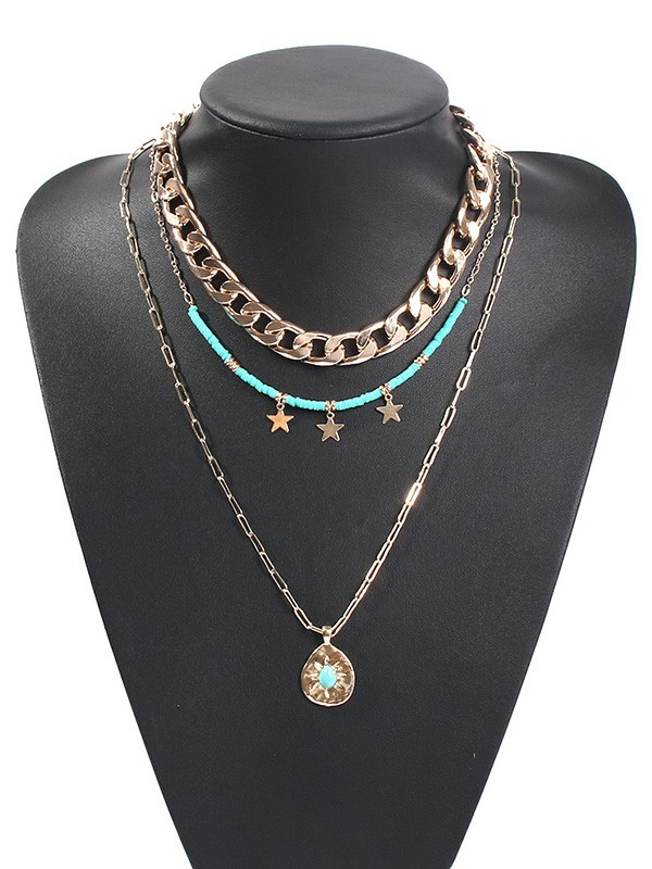 Pretty Alloy With Star Hot Sale Necklaces For Ladies