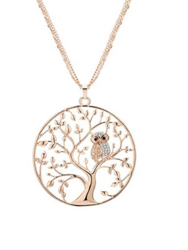 Beautiful Alloy Women Necklaces With Tree