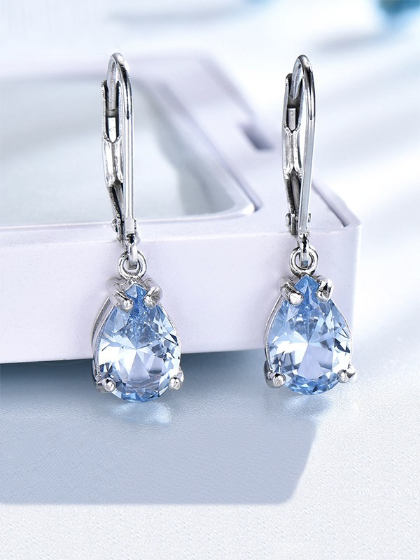 Charming Gemstone With S925 Silver Earrings For Women