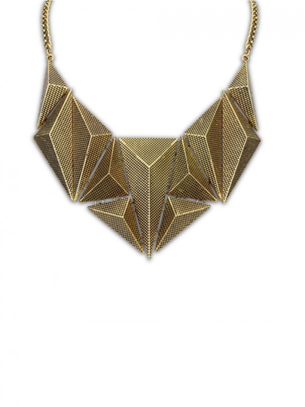 Occident Hyperbolic Metallic Dimensional Geometry Hot Sale Necklace
