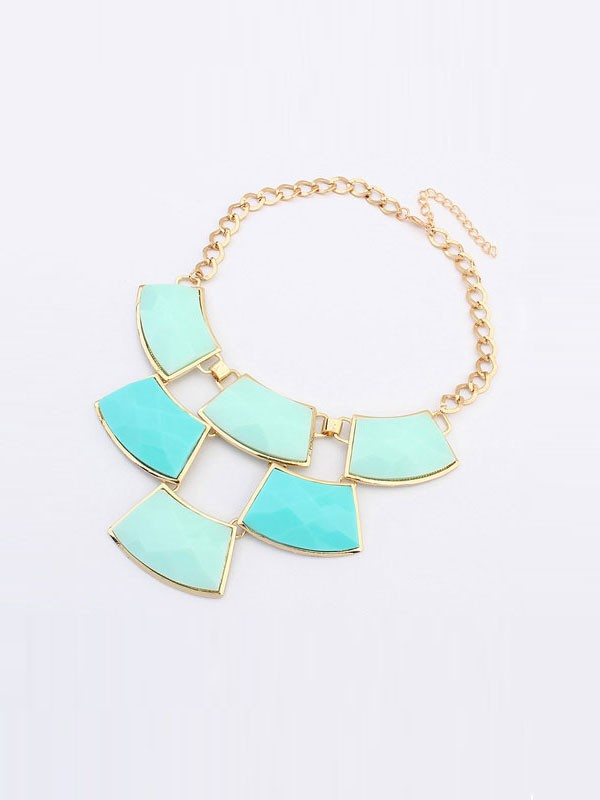 Occident Major Suit Blocks Geometry Stitching Hot Sale Necklace
