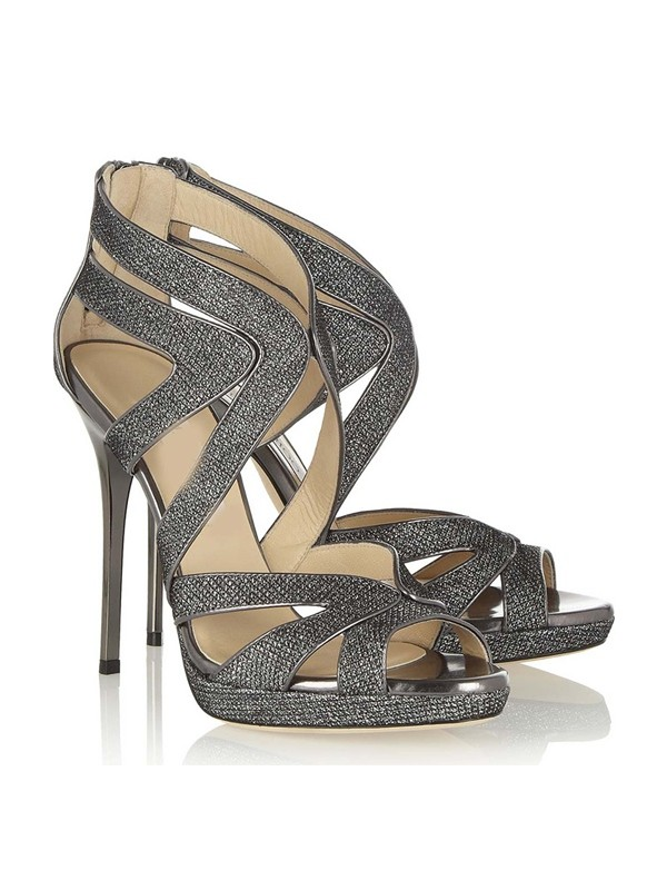 Women's Peep Toe Stiletto Heel Sandals Shoes